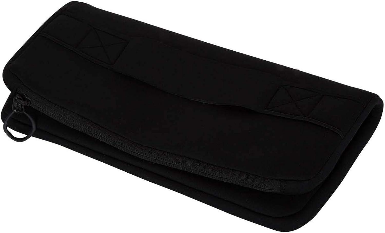 Hurley Women's Apparel Junior's Neoprene Wet-Dry Clutch Purse, Black, Qty