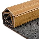 casa pura Tappeto da Bagno Moderno in bambù Linea Emma | Naturale | per Bagno e Sauna | 60x90 cm