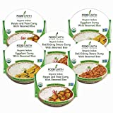 Food Earth -ORGANIC Ready to Eat Indian Meals (6-Pack) - Microwavable Tray, Non-GMO, Dairy Free, Gluten Free & Vegetarian Meal in 90 Seconds! (3-Flavor Variety Pack, 6-Pack)