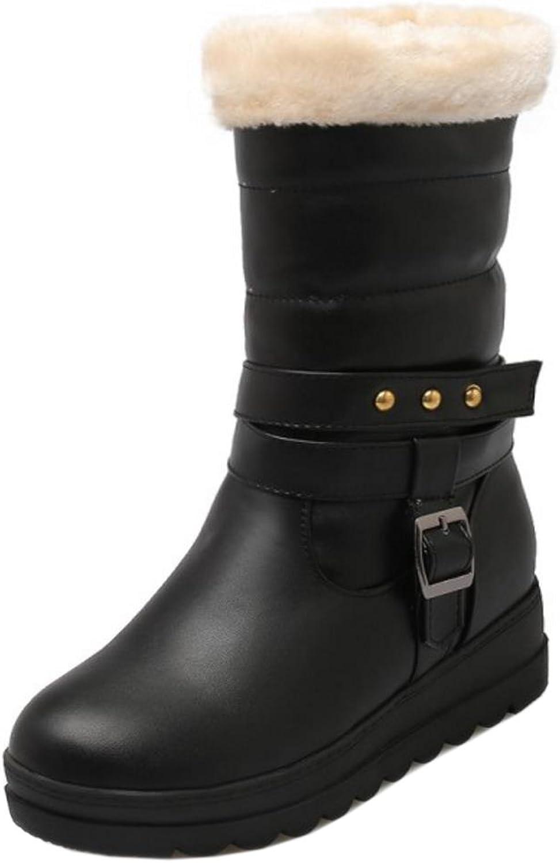 KemeKiss Women Winter shoes Pull On Half Snow Boots