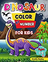 Dinosaur Color by Number for Kids: Dinosaur Activity Books for Kids, Color by Number Book for Kids Ages 4-8