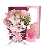 ソープフラワー バラ 花束 バレンタインデー 母の日 バラ型 枯れない花 造花 石鹸花 ギフト メッセージカード付き贈り物 お見舞い お祝い入学 卒業 結婚祝い 記念日 誕生日 プレゼント 女性