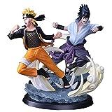 CXNY 26 cm 2 Estilo Naruto Uzumaki Sasuke Uchiha Naruto Edición Limitada Estatua PVC Figura de Acció...