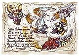Die Staffelei Geschenk Karte A5 Weltenbummler Globetrotter Weltreisender Zeichnung mit Gedicht