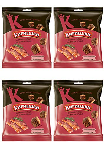 Kirieshki Rye Crackers Dry Bread Bacon 40g Pack of 4