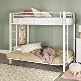 Home Accent Furnishings Sunrise Metal Twin-Over-Futon Bunk Bed in White