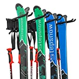 Ski Wall Rack, Holds 4 Pairs of...