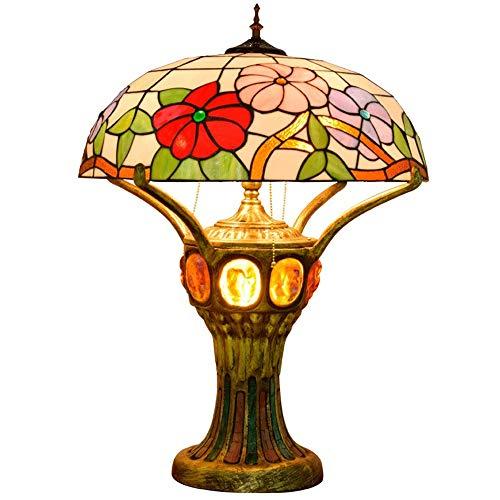 Sebasty Lámpara de mesa Petunia de alto grado para sala de estar, dormitorio, bar, recepción, vestíbulo, decoración de mesa, lámpara de entendimiento antiguo Lucite
