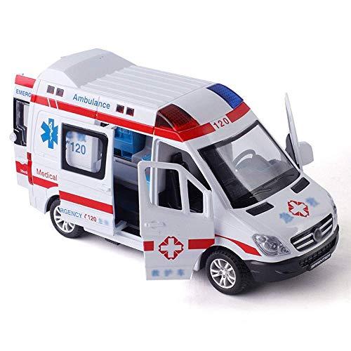 1:32 Simulation Metall Spielzeugauto Modell Legierung Version Polizeiwagen Krankenwagen Feuerwehrauto...