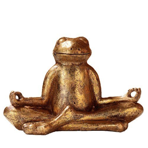 pajoma Yoga Frosch Mantra, L 29,5 x B 14,5 x H 20,5 cm
