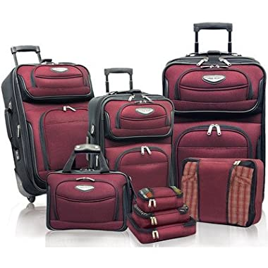 Travelers Choice Amsterdam 8pc Set, Burgundy