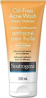 Neutrogena Acne Face Wash - Salicylic Acid For Acne & Blackheads - Oil Free Cream Facial Cleanser - 200ml
