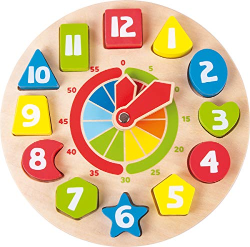 Small Foot - 4764 - Horloge éducative - Formes