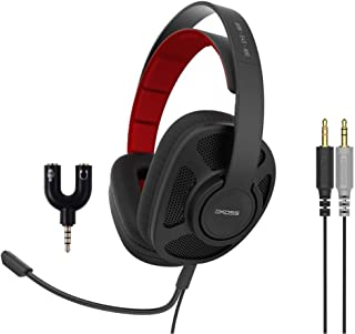 Koss GMR-545-AIR-ADP, Communication Gaming Headset with 3.5mm Headphone Splitter Adapter (2 TRS Female to 1 TRRS Male)