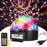 Discokugel, SOLMORE LED Discokugel Kinder Partylicht Disco Lichteffekte 18x18x15CM mit Fernbedienung...