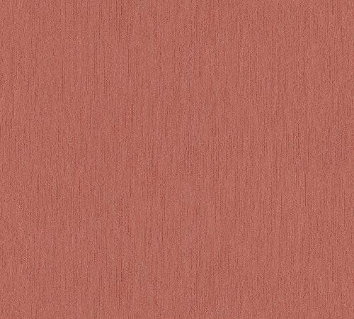 A.S. Création Vliestapete Luxury Walls Tapete Uni 10,05 m x 0,70 m rot Made in Germany 357878 3578-78