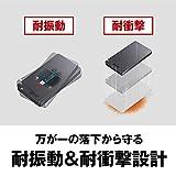 BUFFALO USB3.2Gen2 ポータブルSSD 480GB 名刺サイズ 読込速度530MB/s 日本製 PS4(メーカー動作確認済) 耐衝撃・コネクター保護機構 ブラック SSD-PGM480U3-B/N