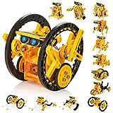 KIDWILL 14 in 1 Solar Roboter Set, STEM Spielzeug Roboter Bausatz Elektronik Baukasten mit Solar Wissenschaft, Experimente Spielzeug für Kinder ab 10 Jahren(0range)