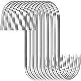Ganchos en forma de S para ahumar, acero inoxidable, doble gancho para pescado, anguila, trucha, 10 unidades