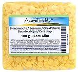 ActiveTimeLife® Bienenwachs Pastillen gelb 100 g | Premium | Zertifiziert für Natur Kosmetik Kerzen Cremes Salben Seifen Wachstücher