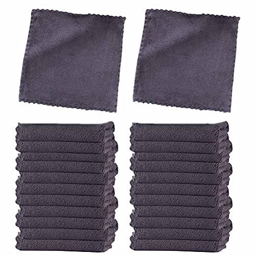 Onsinic Juego de toallas ultra suaves de alta calidad, 24 unidades de secado rápido, muy absorbente, para baño de spa, toalla de dedo (gris)