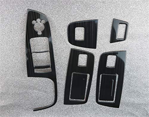 Cubierta de reposabrazos de puerta y ventana Panel De Puerta De Coche Apoyabrazos Ajuste De La Cubierta Fit For Audi Q7 4l Ventana De Cristal De Elevación Botones Del Marco De La Etiqueta De La Tira D