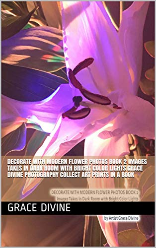 DECORATE WITH MODERN FLOWER PHOTOS BOOK 2 Images Takes In Dark Room with Bright Color Lights Grace Divine Photography COLLECT ART PRINTS IN A BOOK (English Edition)
