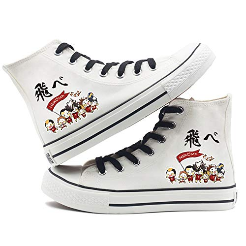 NLJ-lug Haikyuu!! Zapatos De Lona De Dibujos Animados De Anime Negro con...