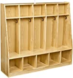 AmazonBasics Coat Locker, 5-Section with Bench