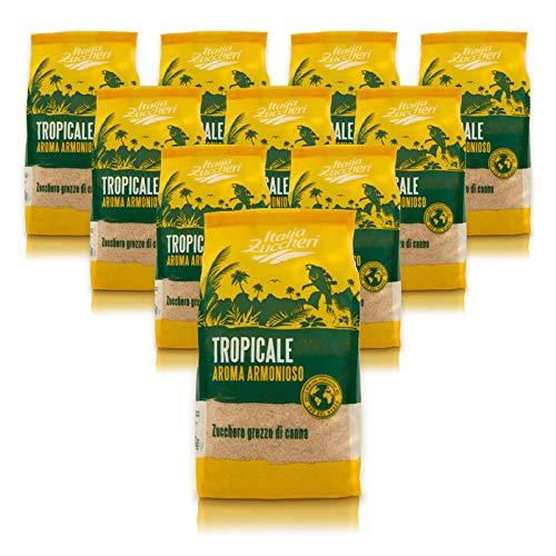 Zucchero di canna grezzo confezione convenienza contenente 10 pacchi da kg 1 cad