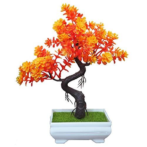 2017 Flores Decorativas Árboles Artificiales Decorativos con floración (Mucho Color) Árbol de Bonsai Modern Feng Shui árbol de simulación de Flores Multi-Estilo, 23