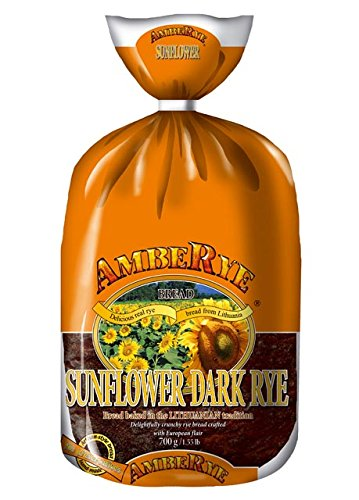 Lithuanian AmbeRye Sunflower Dark Rye Bread - All Natural Whole Grain Imported Rye Bread, 24.7 oz/700 g