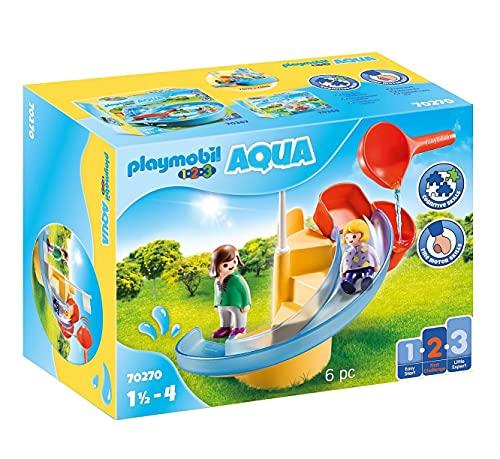 PLAYMOBIL 1.2.3 Aqua 70270 Wasserrutsche, Ab 1,5 bis 4 Jahre