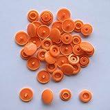 20/50/100/150 juegos de sujetadores de botones de plástico a presión T5 Carpeta de bolsa Botón de hebilla oscura Accesorios de ropa de resina para ropa de bebé-naranja, 150 juegos