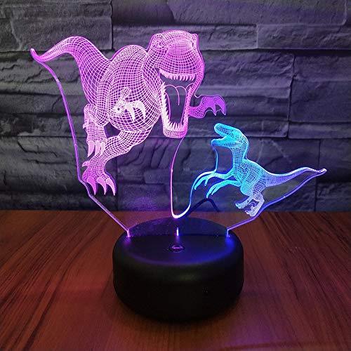 Neon Lights Bar Lámparas de Noche LED de Dinosaurios 16 Cambios de Color Luces LED 3D Regalo de cumpleaños Navidad