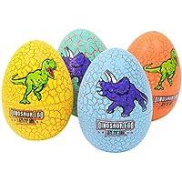 TOYANDONA 4 Piezas de Huevos de Dinosaurio Grietas Coloridas Novedad eclosión de Huevos de Dinosaurio Juguetes educativos Modelo Juguetes para niños