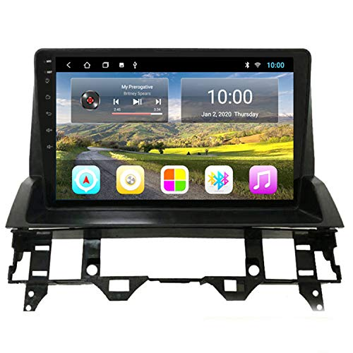 Reproductor de radio multimedia de navegación GPS para coche con pantalla táctil completa de 10 pulgadas Android 10 para Mazda 6 2004-2010 Soporte Mirror Link Bluetooth Manos libres,Wifi 2+32g