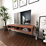 roomfitters Mid Century Media Console/TV Stand, Two Open Storage,...