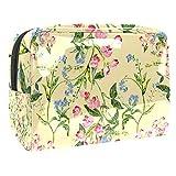 Bolso de aseo de viaje del bolso del maquillaje de las flores del pájaro y de las mariposas de nylon resistente al agua
