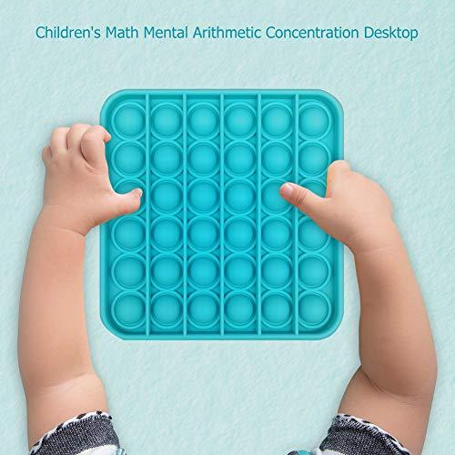 FUNSHINNY Juguete sensorial Push Pops para autismo Squishy Aliviador del estrés Juguetes Adulto Niño Divertido Anti-estrés Pops It Fidget Aliviador del estrés (color: arco iris redondo)