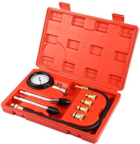Cozywind Compressione Tester Kit Rilevatore di Perdite di Cilindro Auto Tester Strumento per Test di Cilindri Auto di Compression 0-20bar/0-300psi (Rosso)