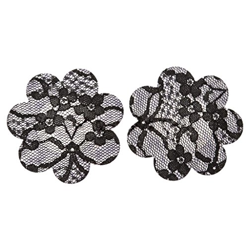 Cicilli Cicilli Silikon Nippel-Abdeckung - fünf Paar, Schwarz, 7 cm