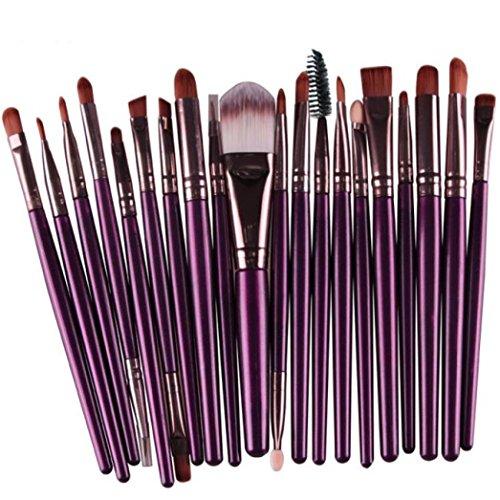 MuSheng(TM) 20 pc maquillage outils constituent trousse de toilette brosse brosse laine représentent (Violet)