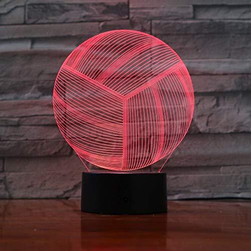 Voleibol Gadget Girl 3D LED Luz de noche Lámpara de mesa Mesita de noche Decoración Regalo de niños