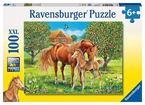 Ravensburger Kinderpuzzle 10577 - Pferdeglück auf der Wiese - 100 Teile