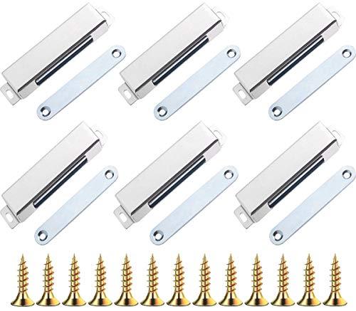 Liuer 6PCS Magnetschnäpper Schrankmagnet Haltekraft 35 KG Magnetverschluss Türmagnet Schranktür magnet Türschliesser Magnetisch Haltemagnet Möbelmagnet Magnetschloss stark Tür (Groß)