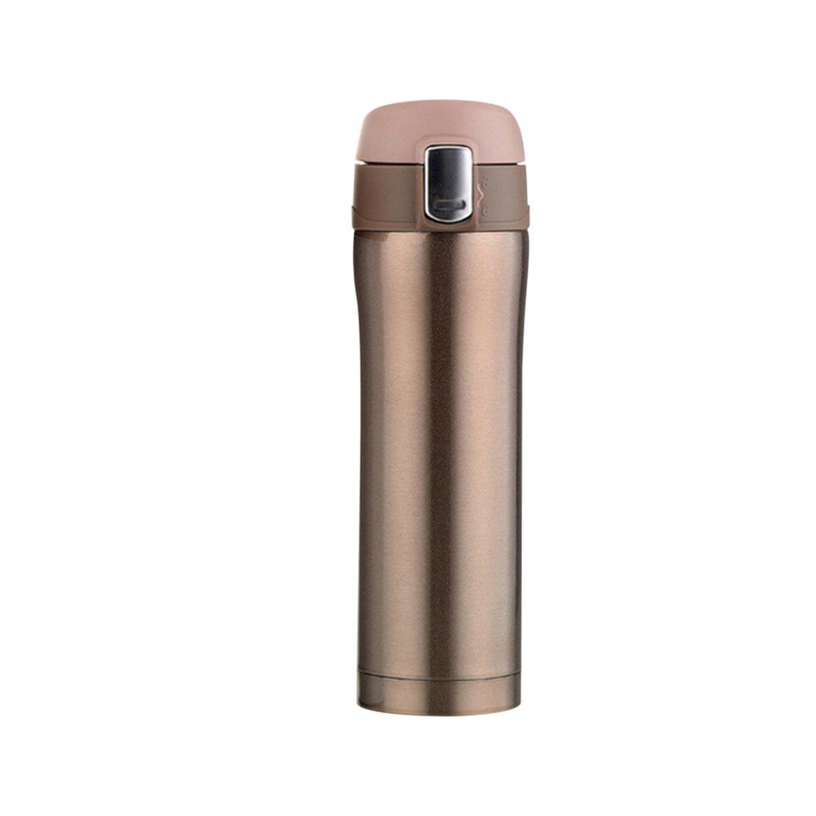 バードランタン500 MLコンパクトサイズステンレス鋼絶縁真空水ボトル男性女性オフィス旅行車ドリンク水マグボトル(ゴールド)
