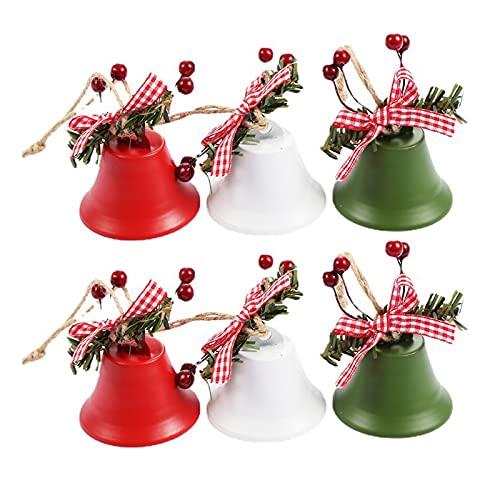 Leyeet - Campanelle di Natale per campanelle di Natale, in metallo, grandi campane, per decorazioni natalizie