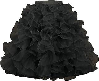 ANTS Women's 1950's Vintage Rockabilly Organza Ruffle Ball Gown Petticoat Skirt
