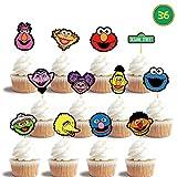 36 Elmo Cupcake Toppers Birthday Cake Decorations